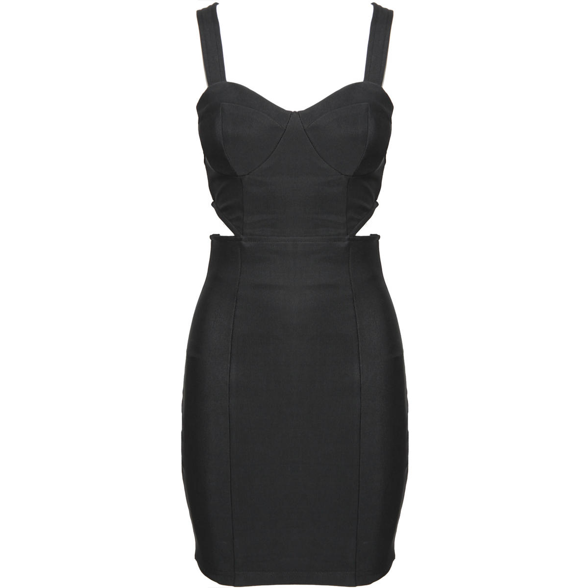 Black Cut Out Bodycon Dress Preview